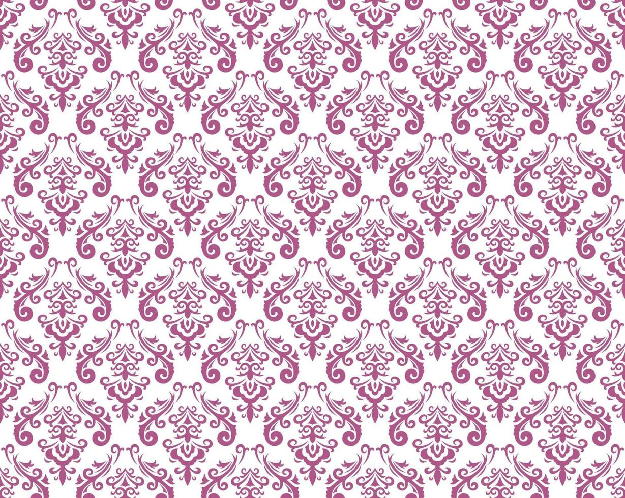 Seamless Damask Vintage Pattern Illustration. Horizontally And Vertically Repeatable. vector