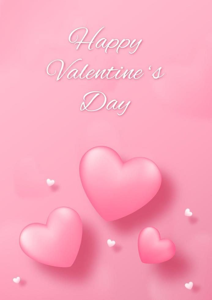 Paper art with heart on pink background. Love concept design for happy mother's day, valentine's day, birthday day. Banner and greeting template design. vector
