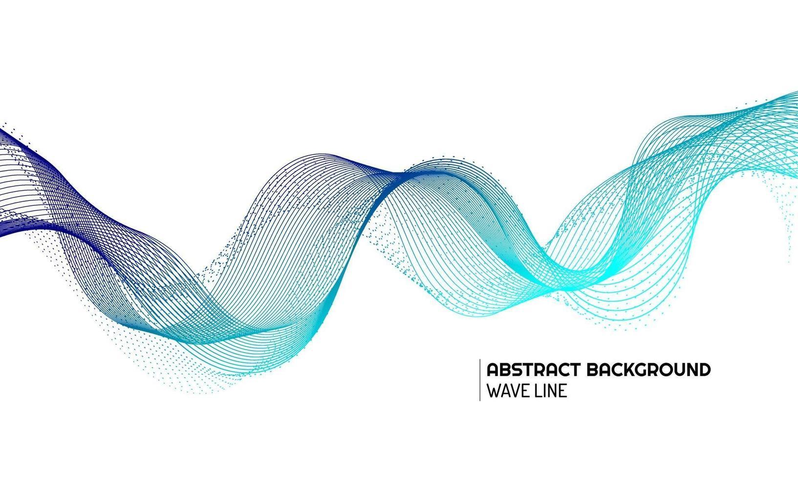elemento de onda abstracta para el diseño vector