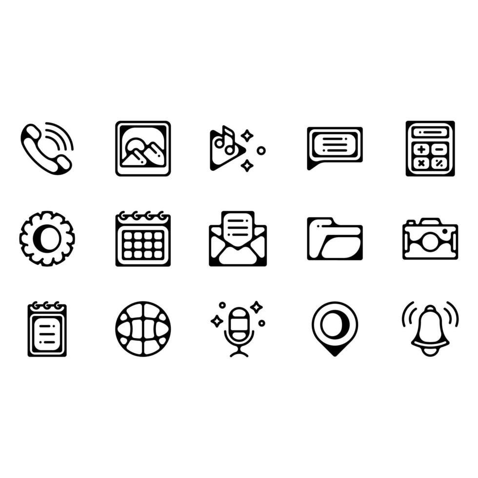 Mobile Applications Icons vector