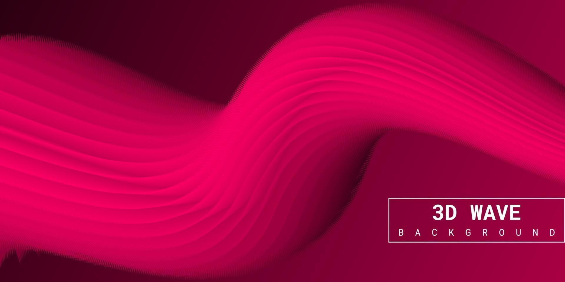 Modern abstract liquid 3d background with pink gradient vector