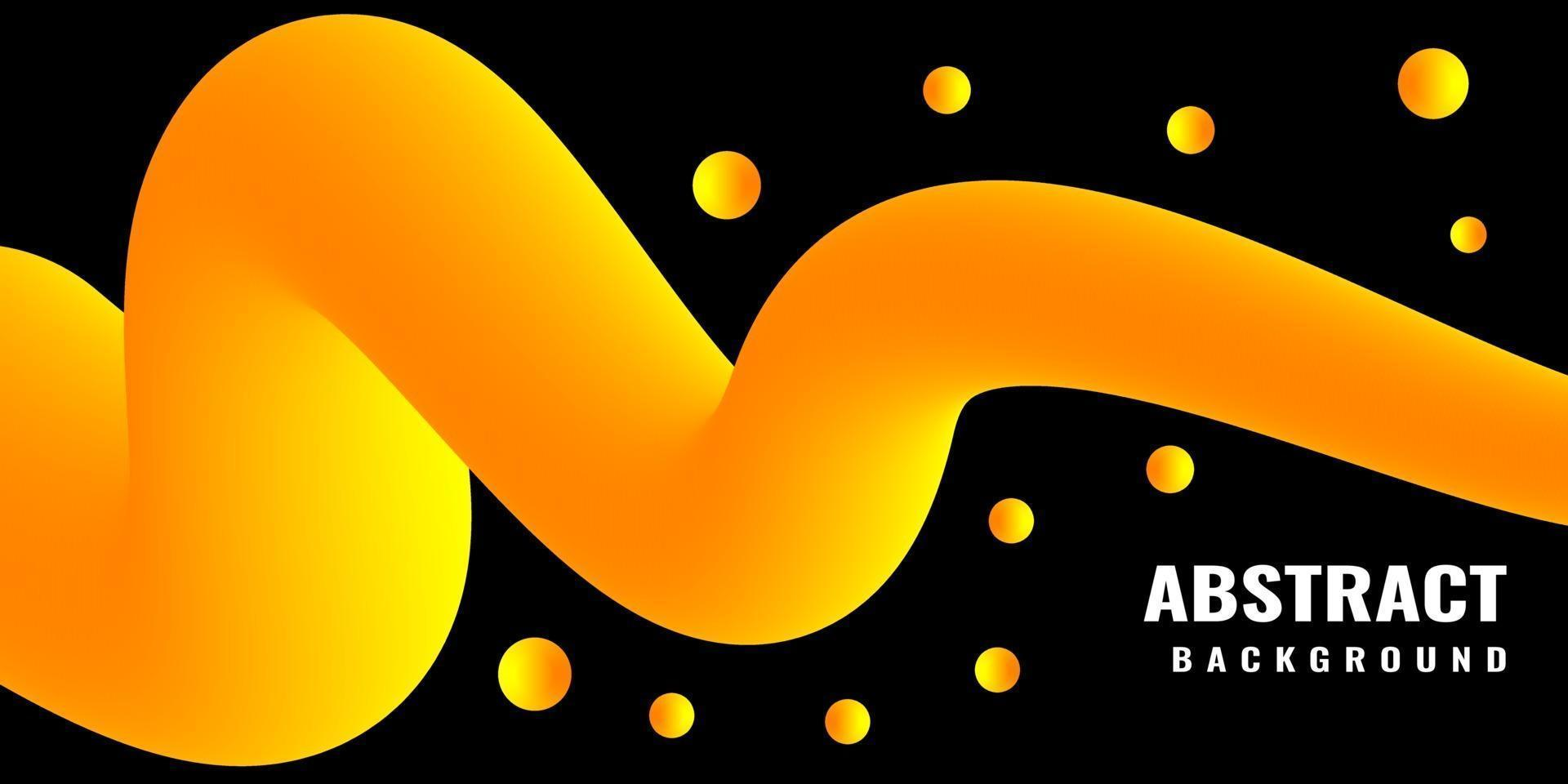 Modern abstract liquid 3d background with yellow gradient vector