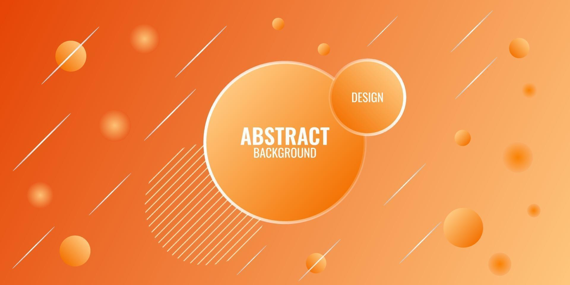 moderno abstracto naranja degradado geométrico vector