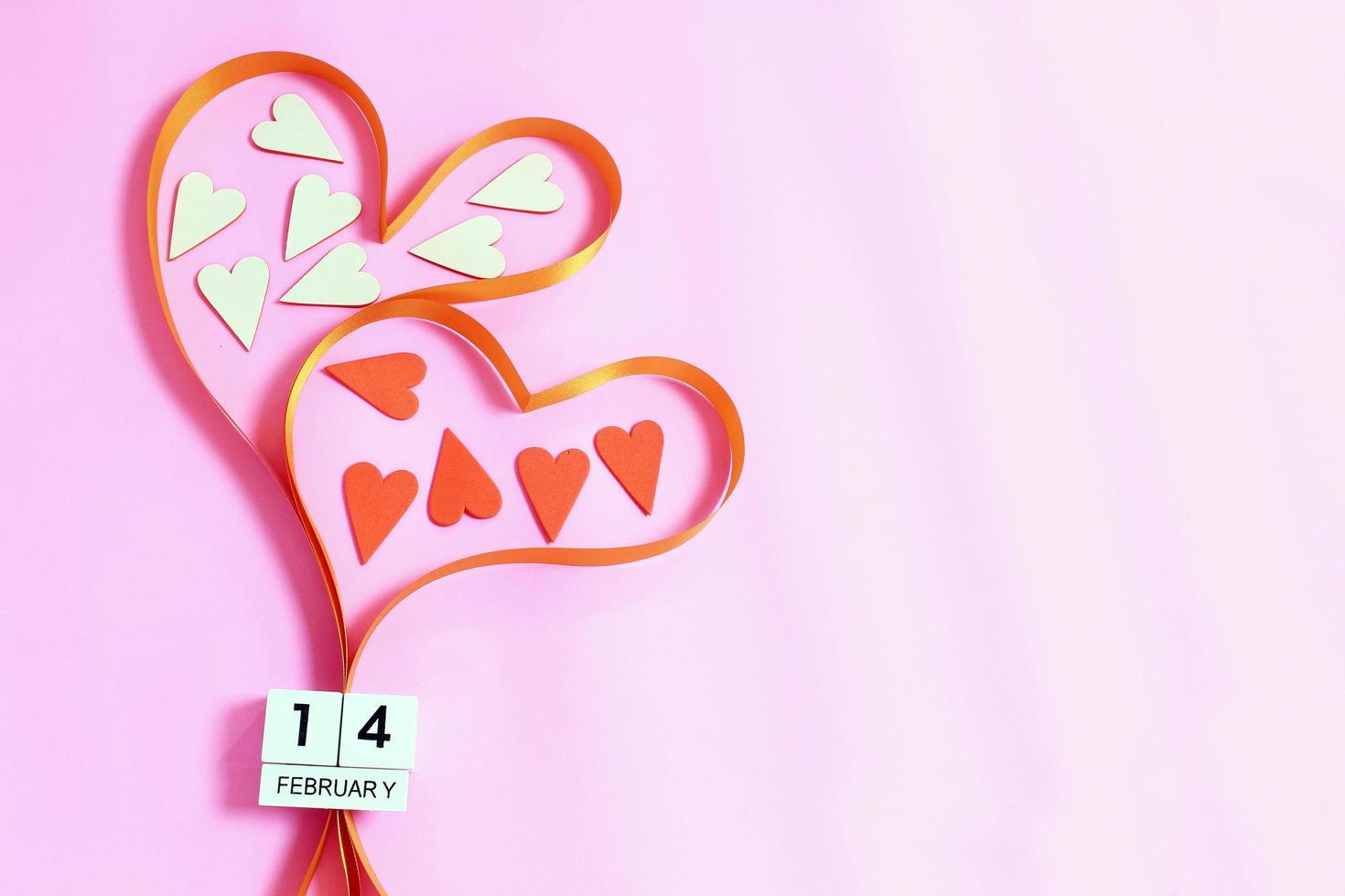 corazones de cinta para el día de san valentín foto