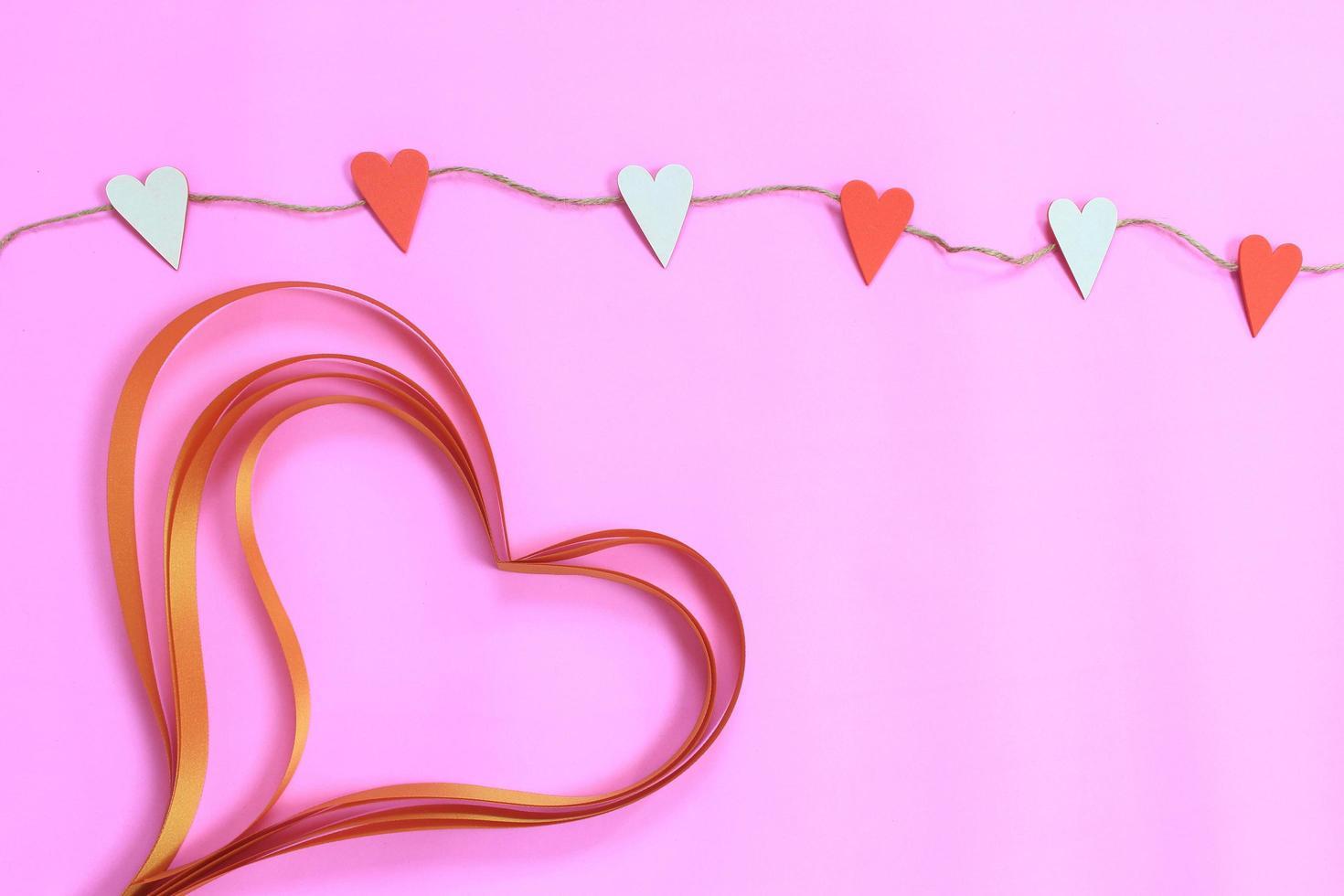 decoración de san valentín en rosa foto