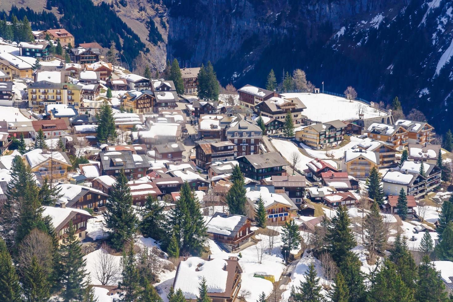 murren, un pueblo de montaña suizo foto