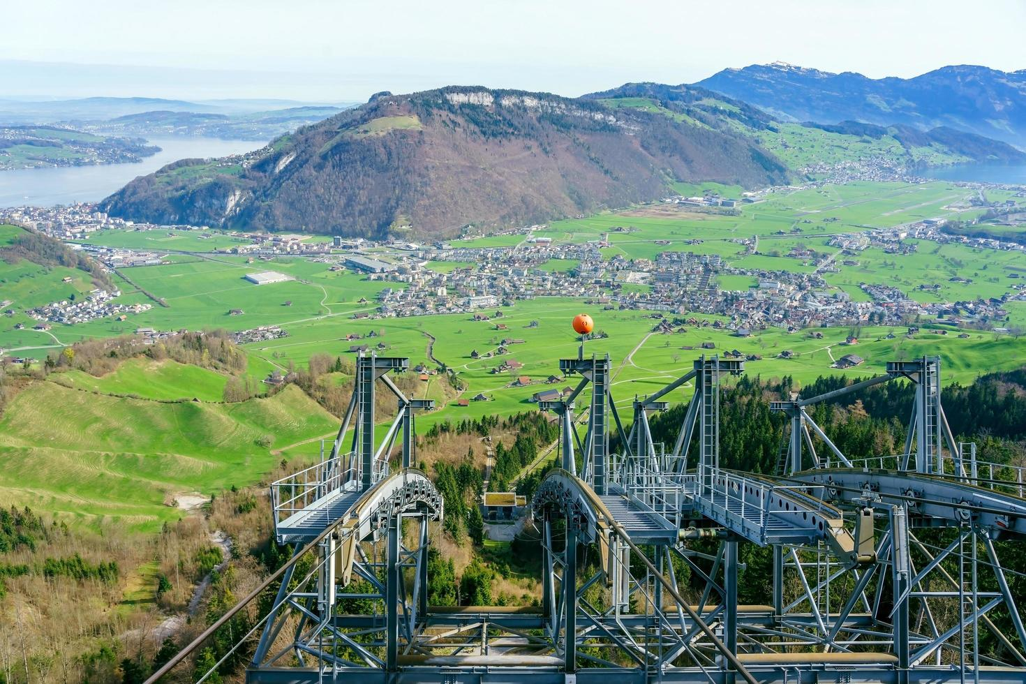 View from Mt. Stanserhorn in Switzerland photo