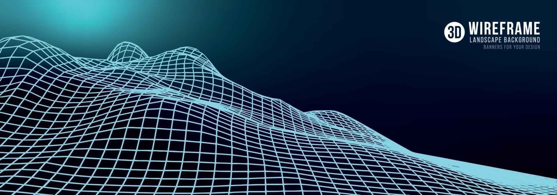 Fondo de paisaje abstracto de estructura metálica. vector