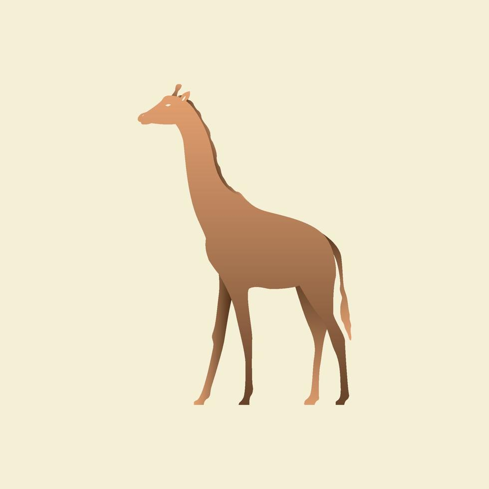 silueta de una jirafa. vista lateral de la jirafa, perfil. vector