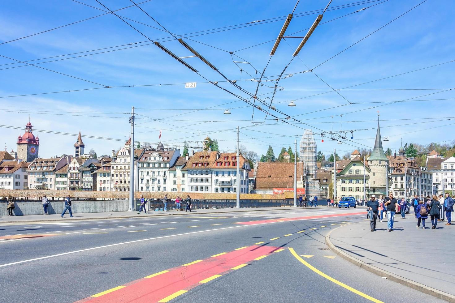 centro histórico de luzern, suiza, 2018 foto