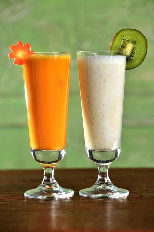 Two smoothie cocktails photo