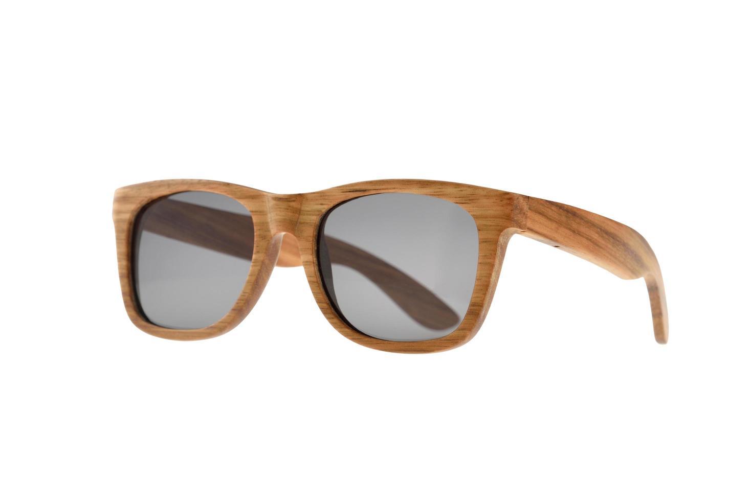 Natural wood-framed sunglasses photo