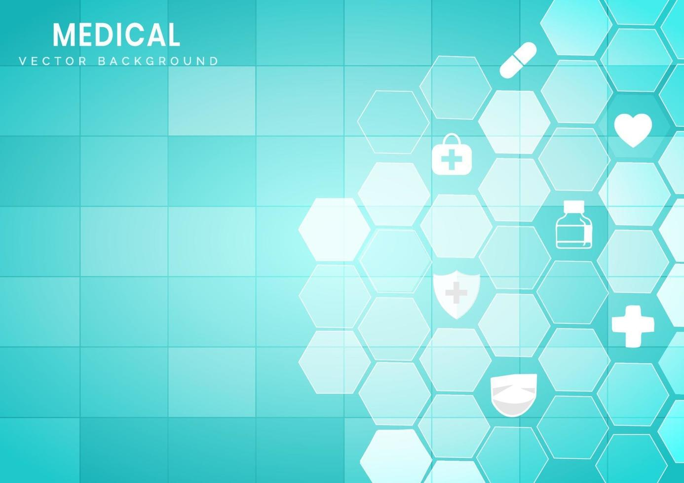 Abstract blue hexagon pattern background.Medical and science concept and health care icon pattern. vector