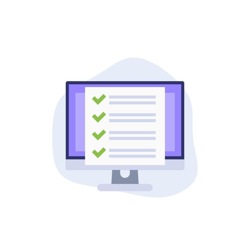 lista de verificación, icono de vector de software de gestión de proyectos