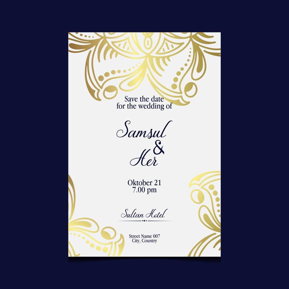 Floral and mandala ornamental decorative frame background luxury Premium Vector