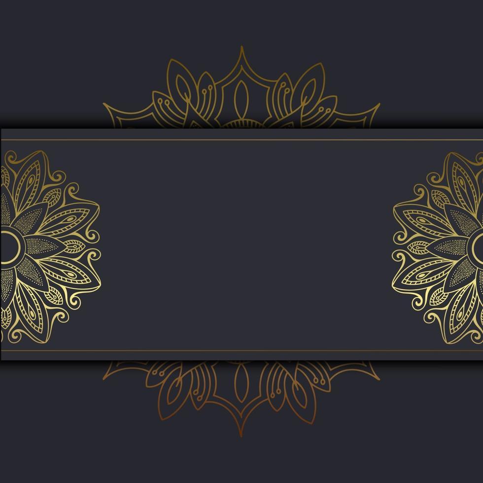 Luxury gold mandala ornate background for wedding invitation, book cover with mandala element style premium vector