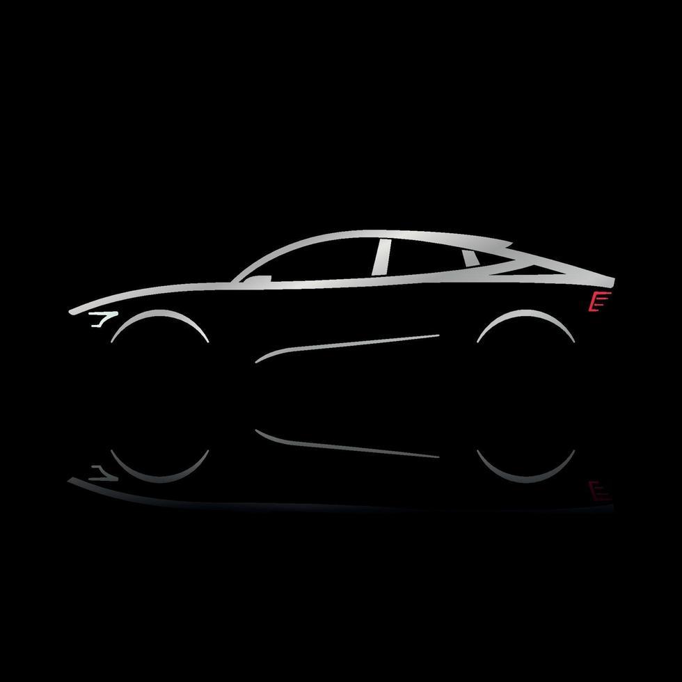 concepto de silueta de coche de diseño vector