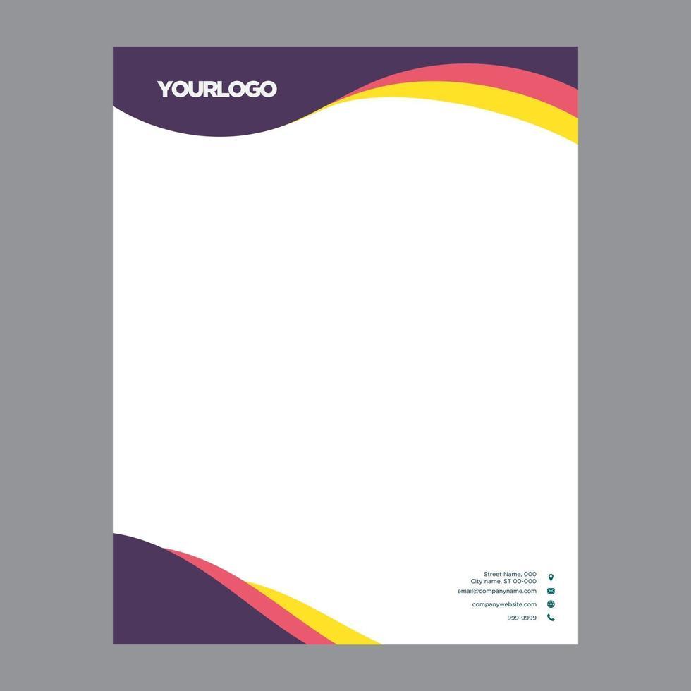 modern business letterhead vector illustration