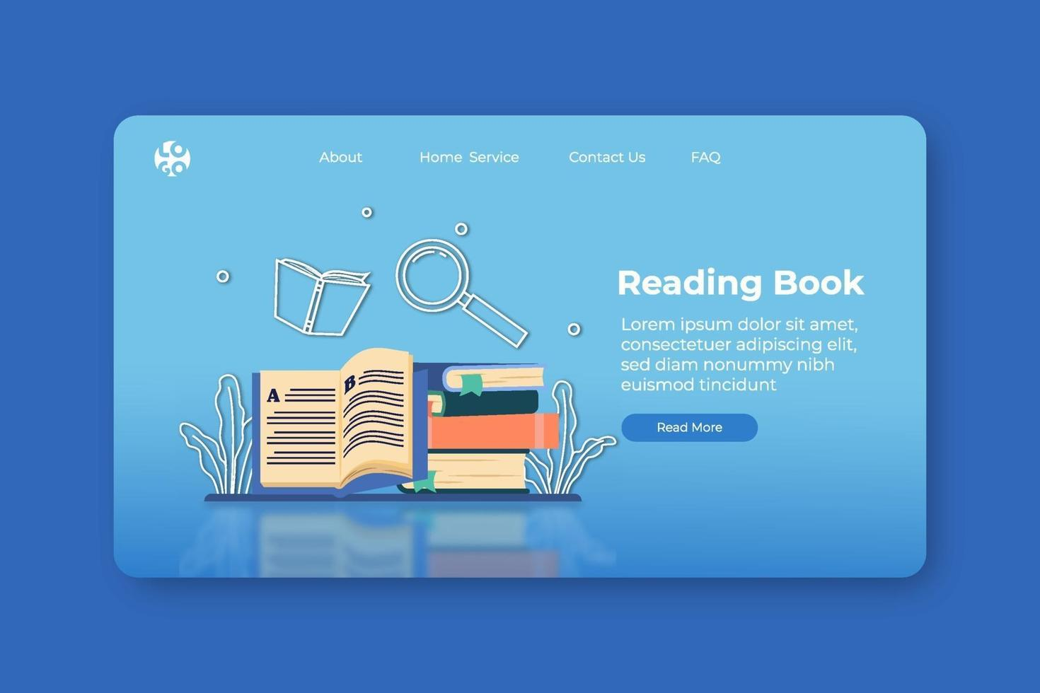 Modern Flat Design Vector Illustration. Reading Book Landing Page and Web Banner Template. Distance Education, Learning, Book is Knowledge, Home Schooling, Study Literature, E-Book, Digital Education