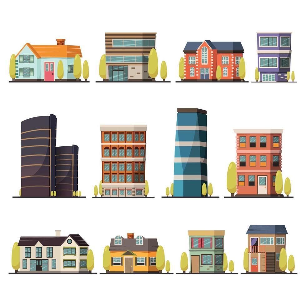 Orthogonal living buildings vector