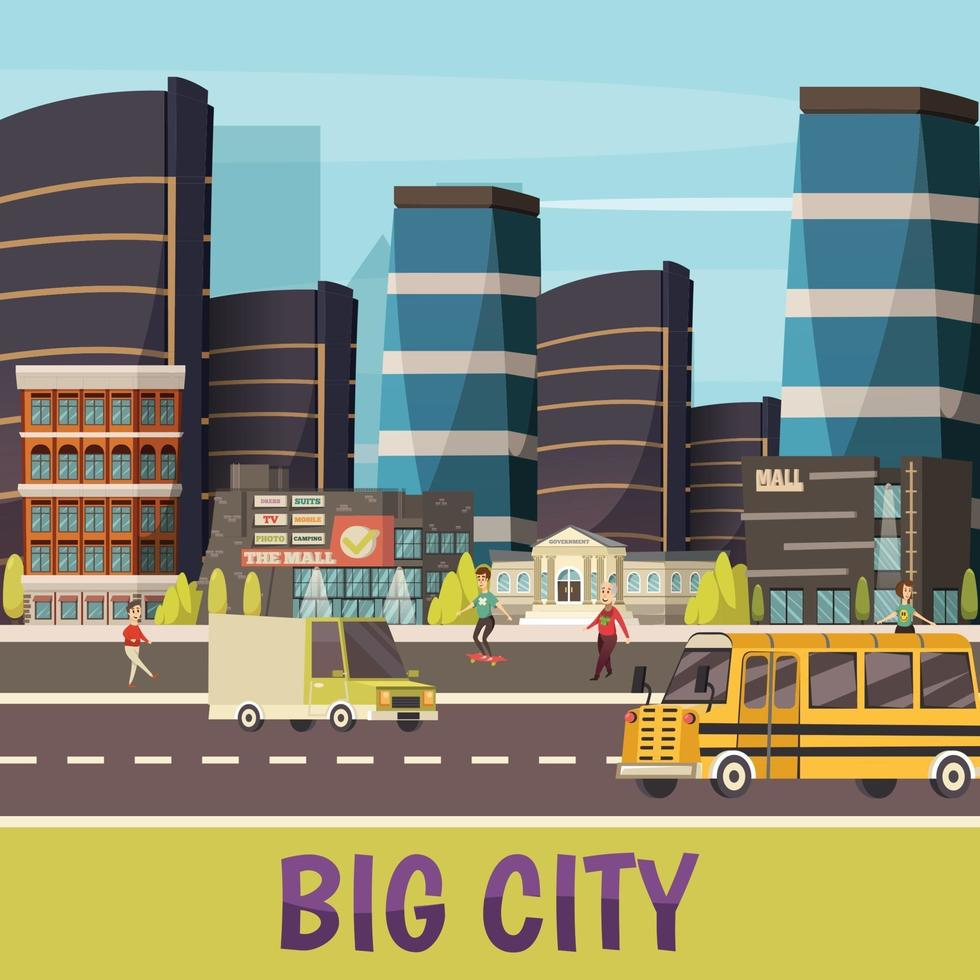 Orthogonal city background vector