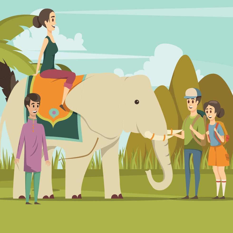 India elephant background vector