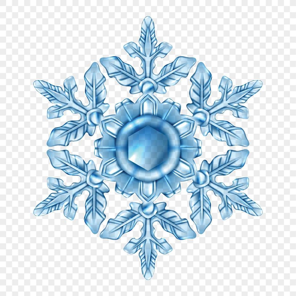 realistic snowflake isolated vector
