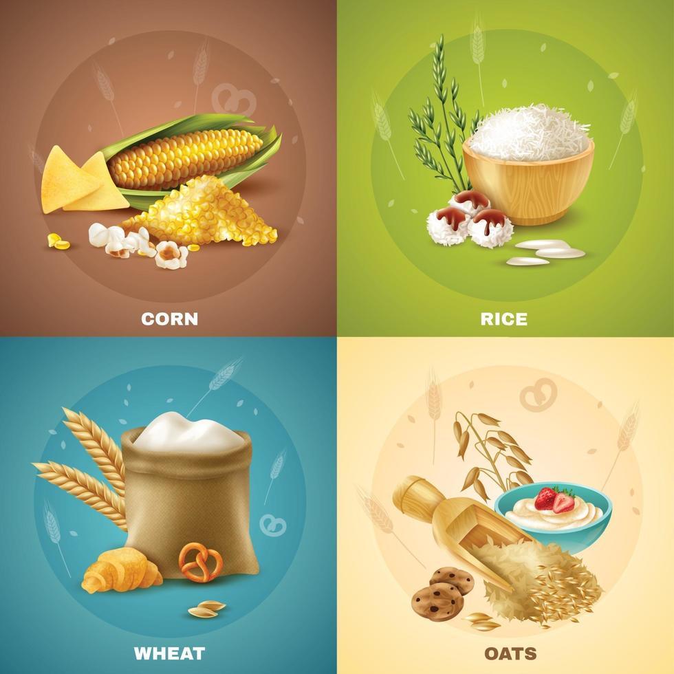 cereals design concept vector