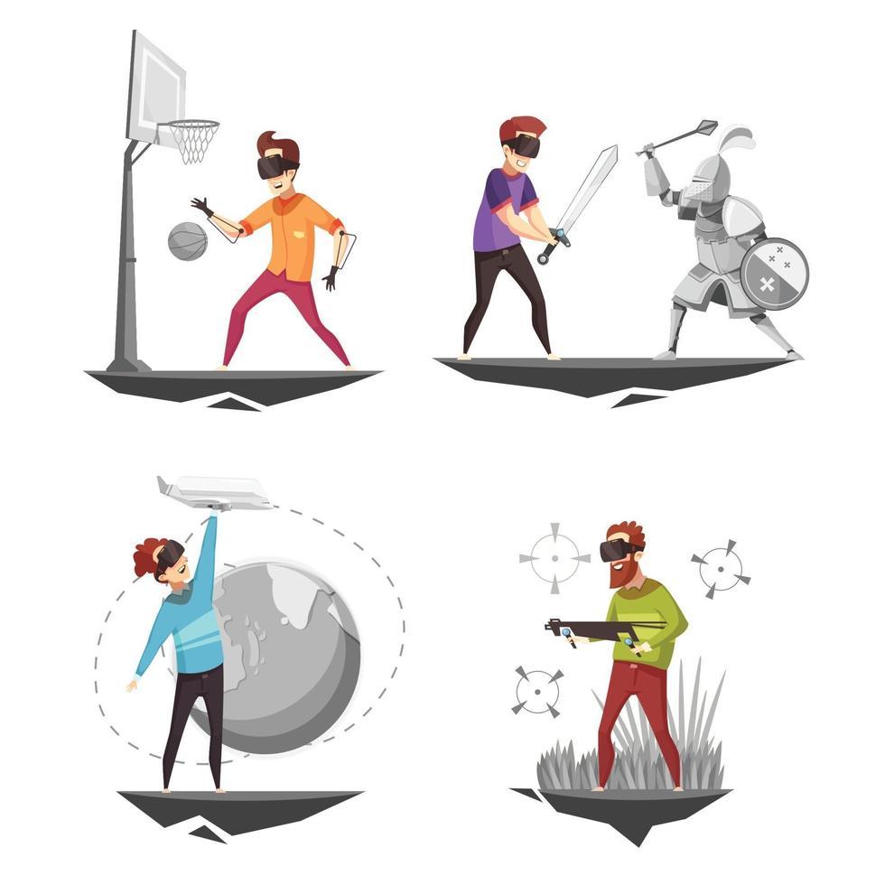 virtual reality design concept vector