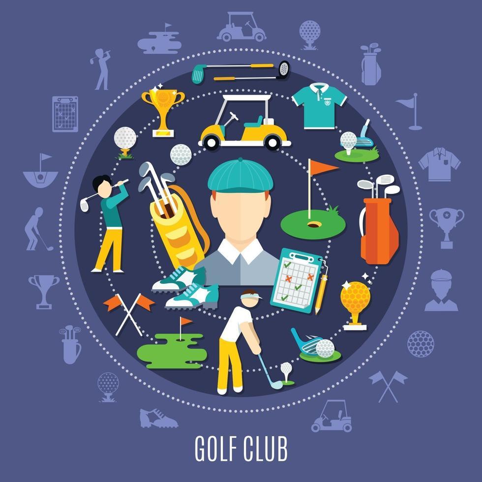 Golf flat illustration vector