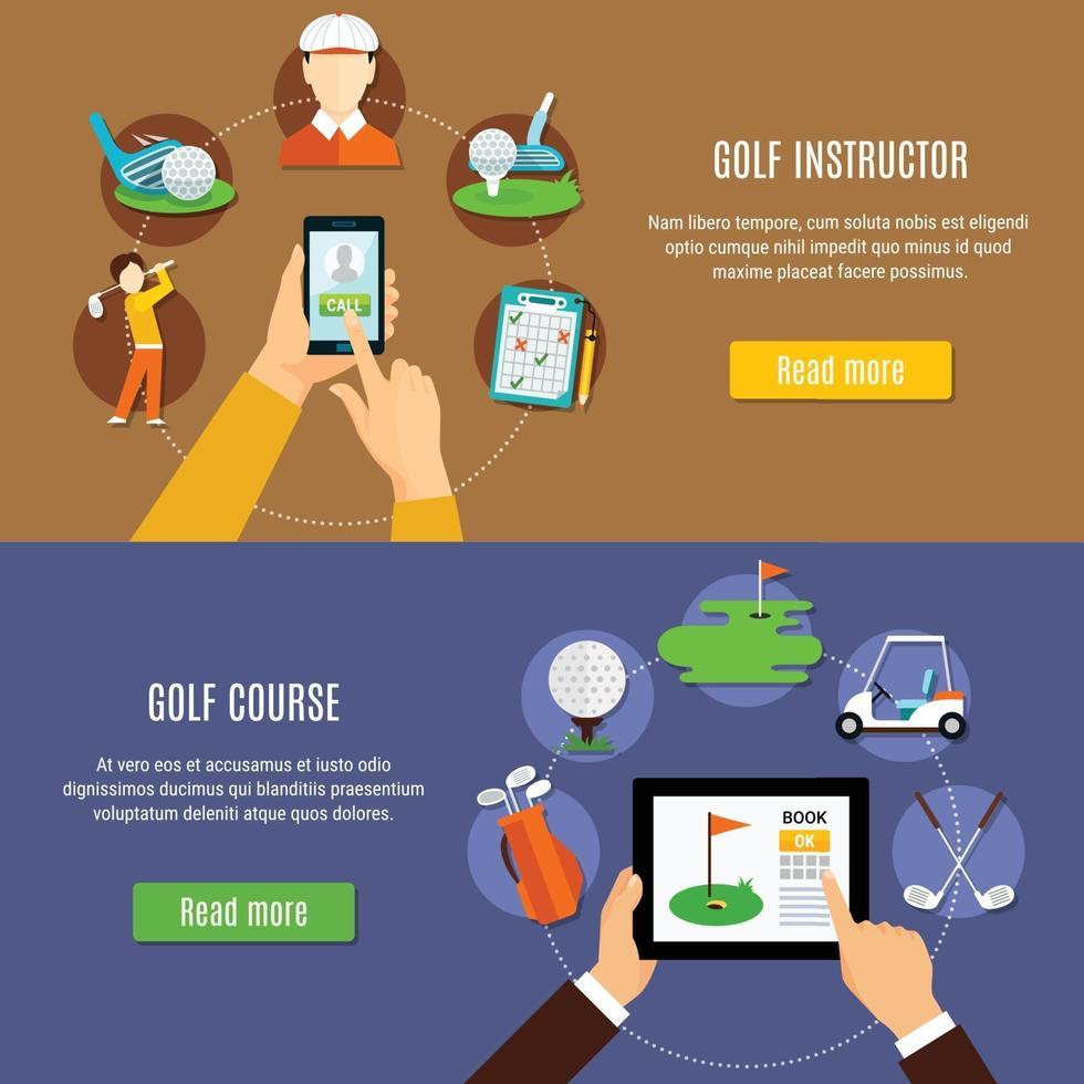Golf banner set vector