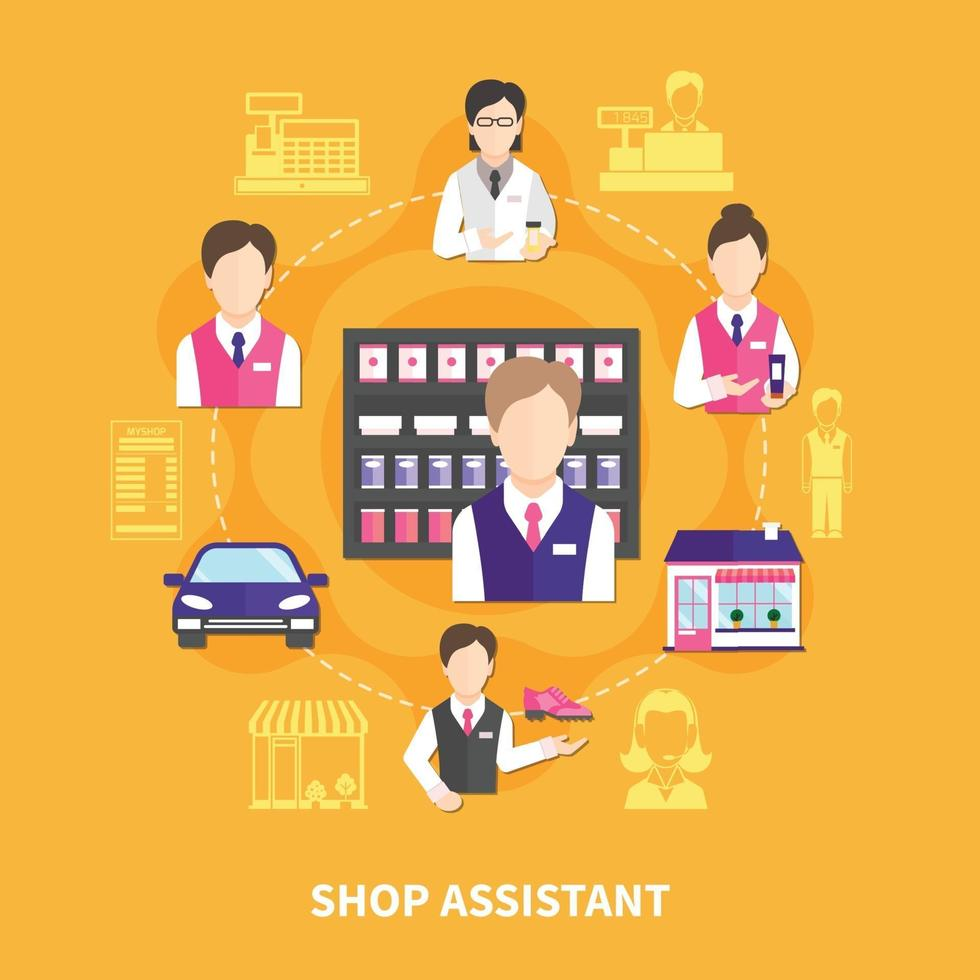 Salesman vector illustration