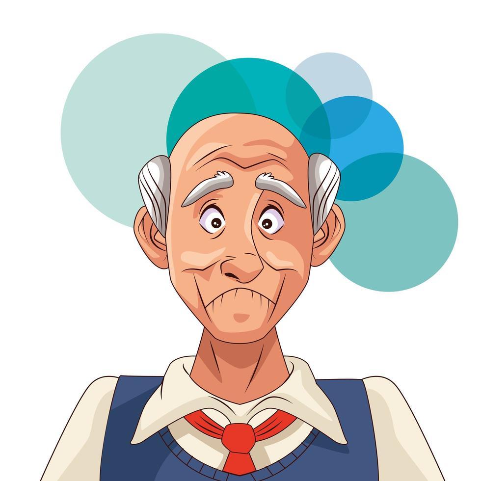 anciano y paciente con enfermedad de alzheimer vector