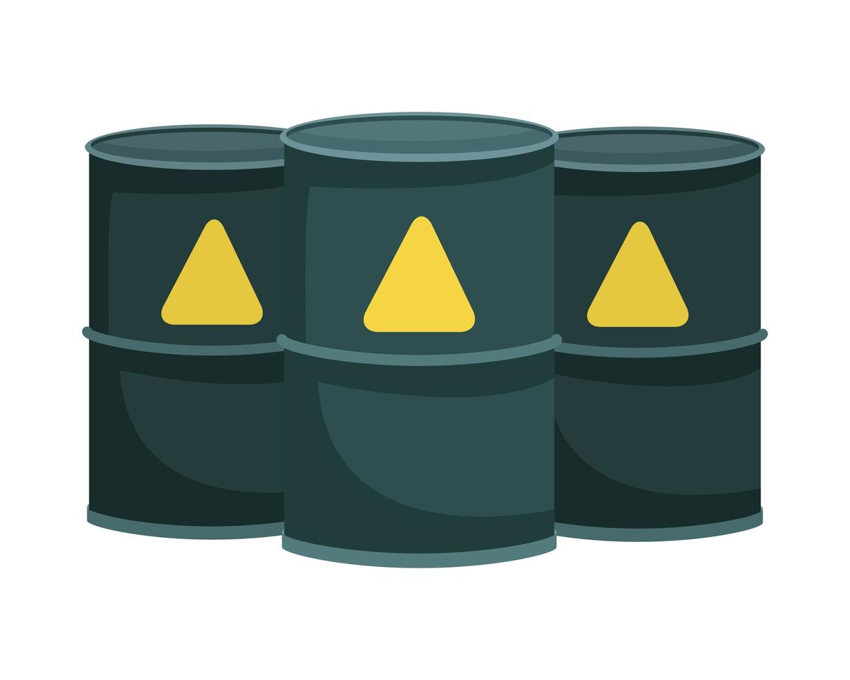 nuclear barrels isolated icons vector