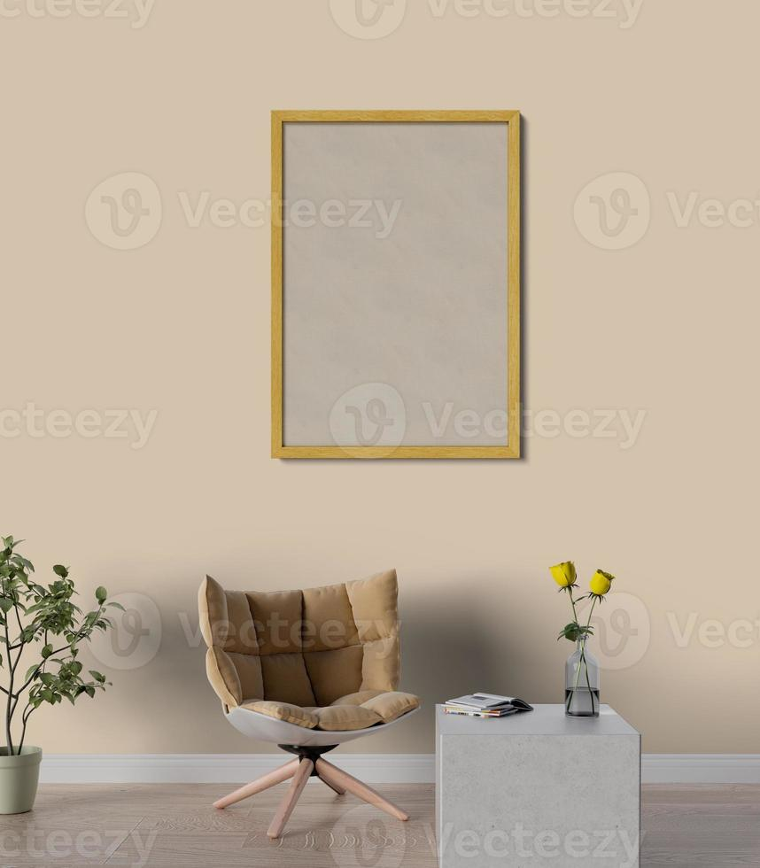 Mock up frame in a living room photo