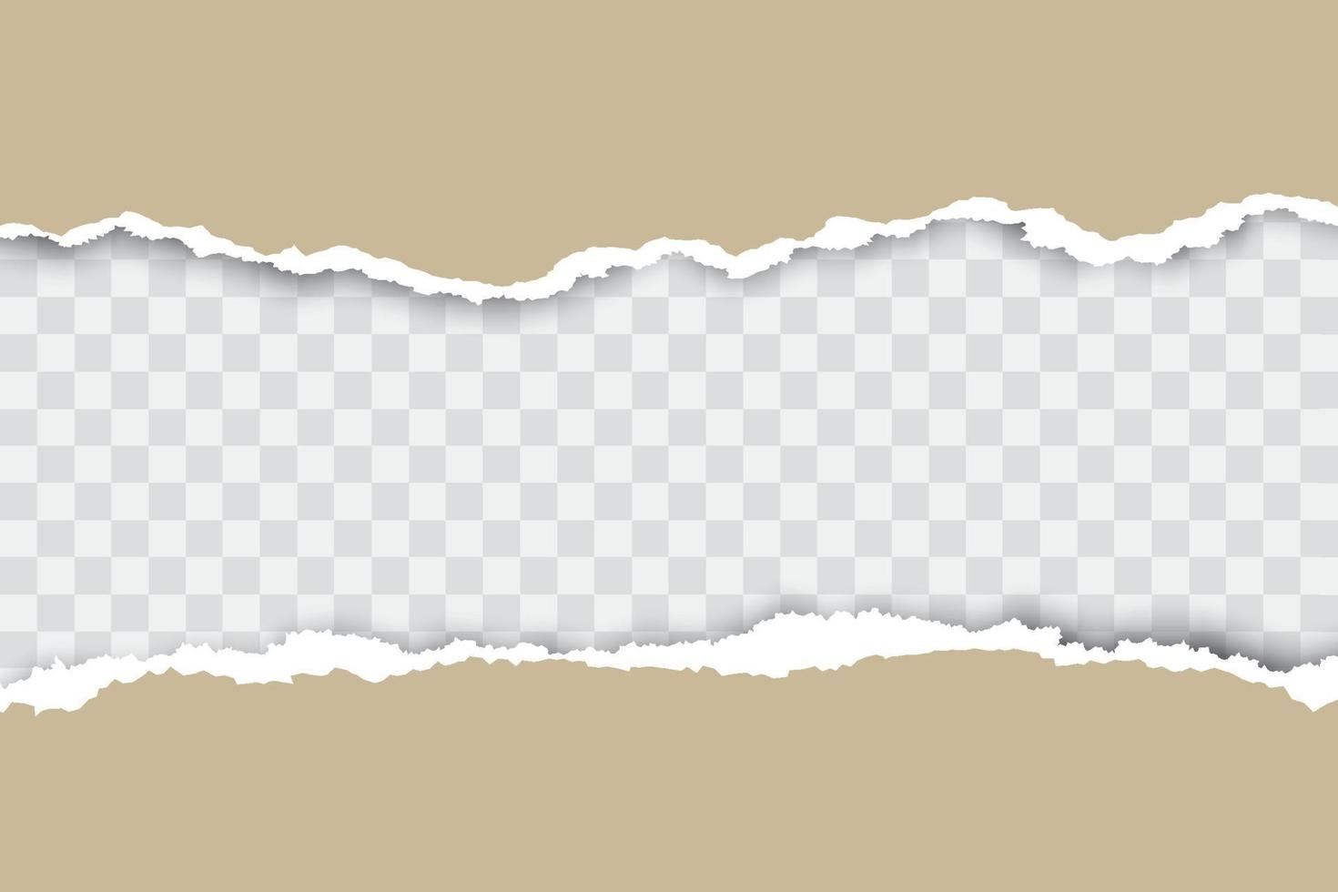 Brown ripped paper background with place for your text. vector