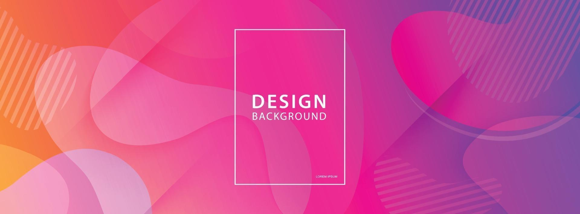 Fluid shape banner design background. Liquid geometric gradient template. vector