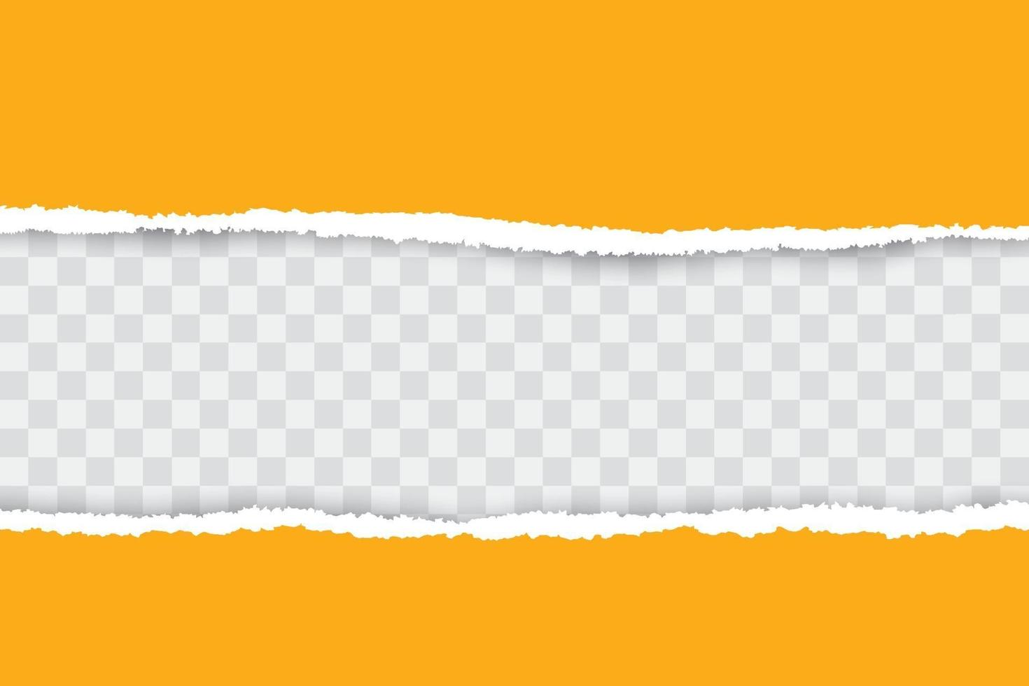 Yellow ripped paper background with place for your text. vector