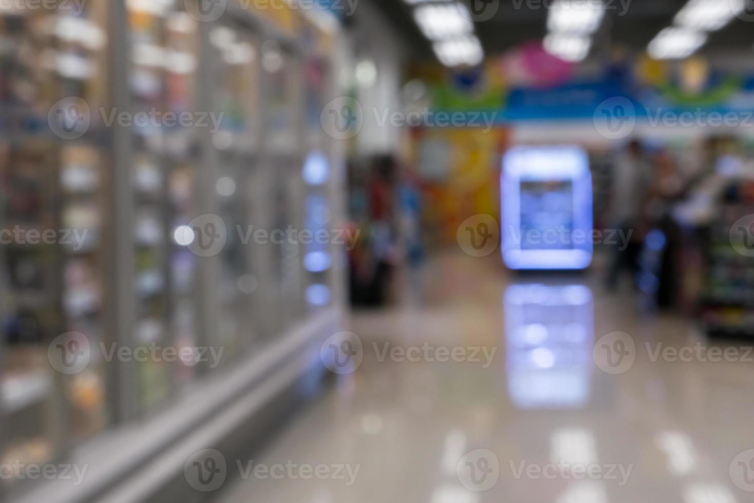 tienda de comestibles borrosa foto