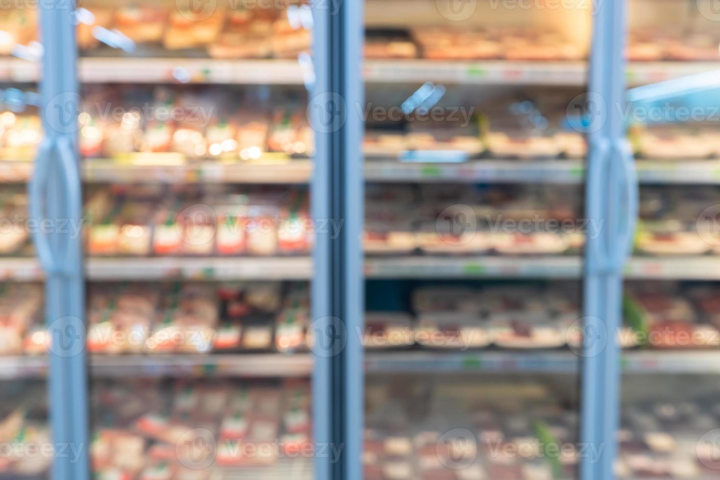 estantes de las tiendas borrosas foto
