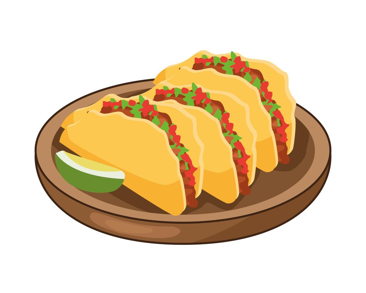 Delicious Mexican Tacos And Lemon Traditional Food Download Free Vectors Clipart Graphics Vector Art