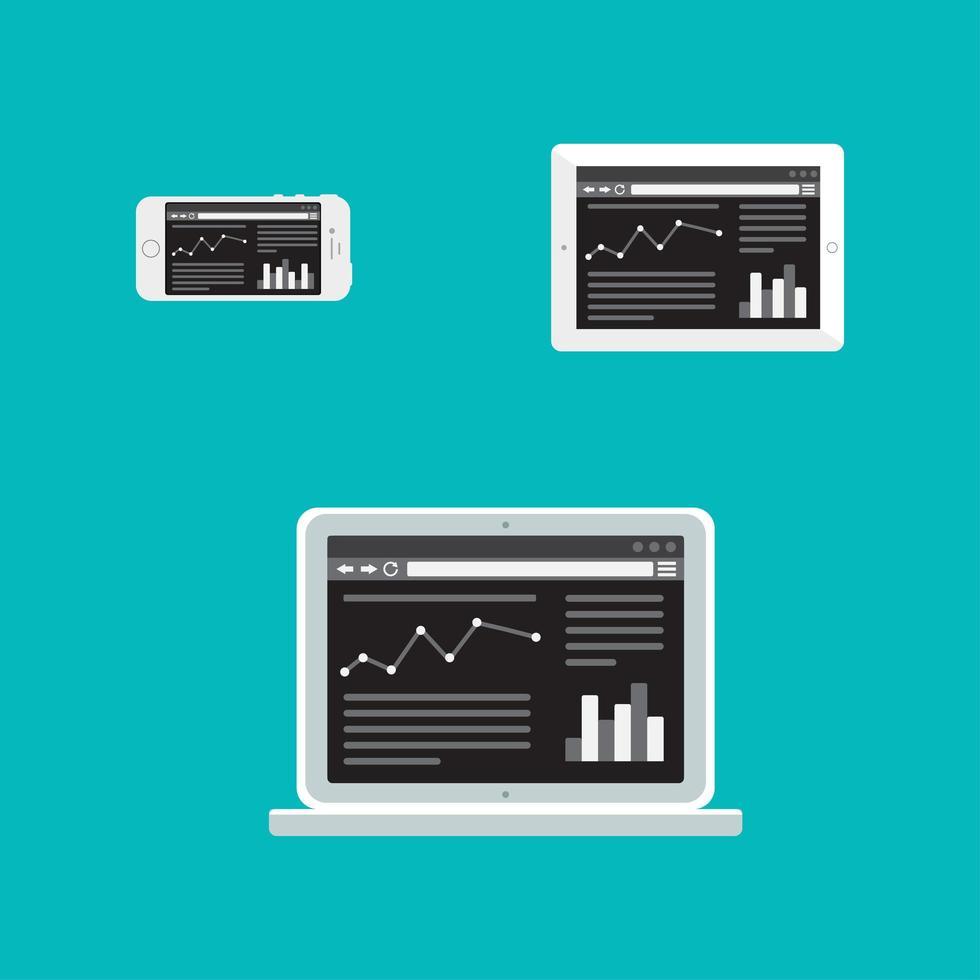 plantilla web de sitio adaptable o formulario de artículo vector