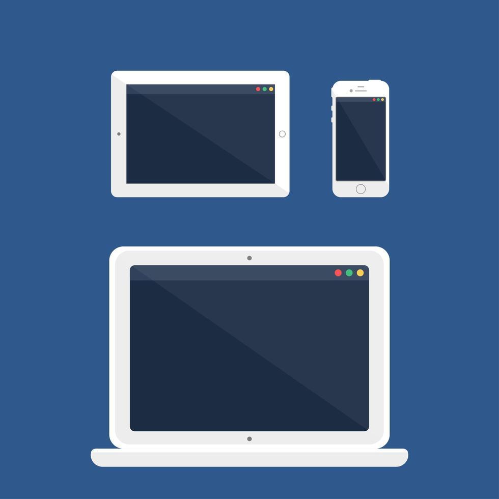 plantilla web de diseño adaptativo vector
