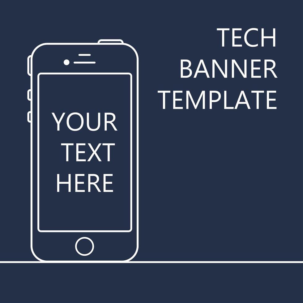 banner web con teléfono vector