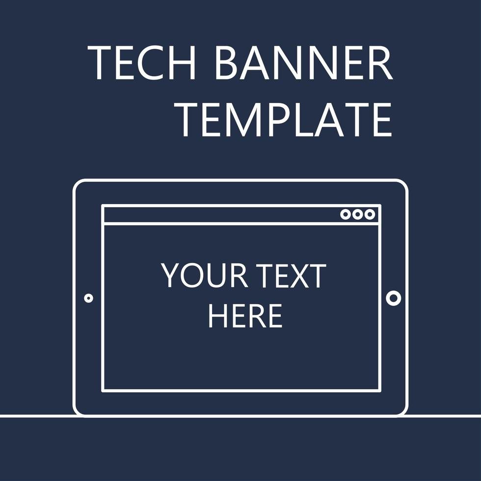 banner web con tableta vector