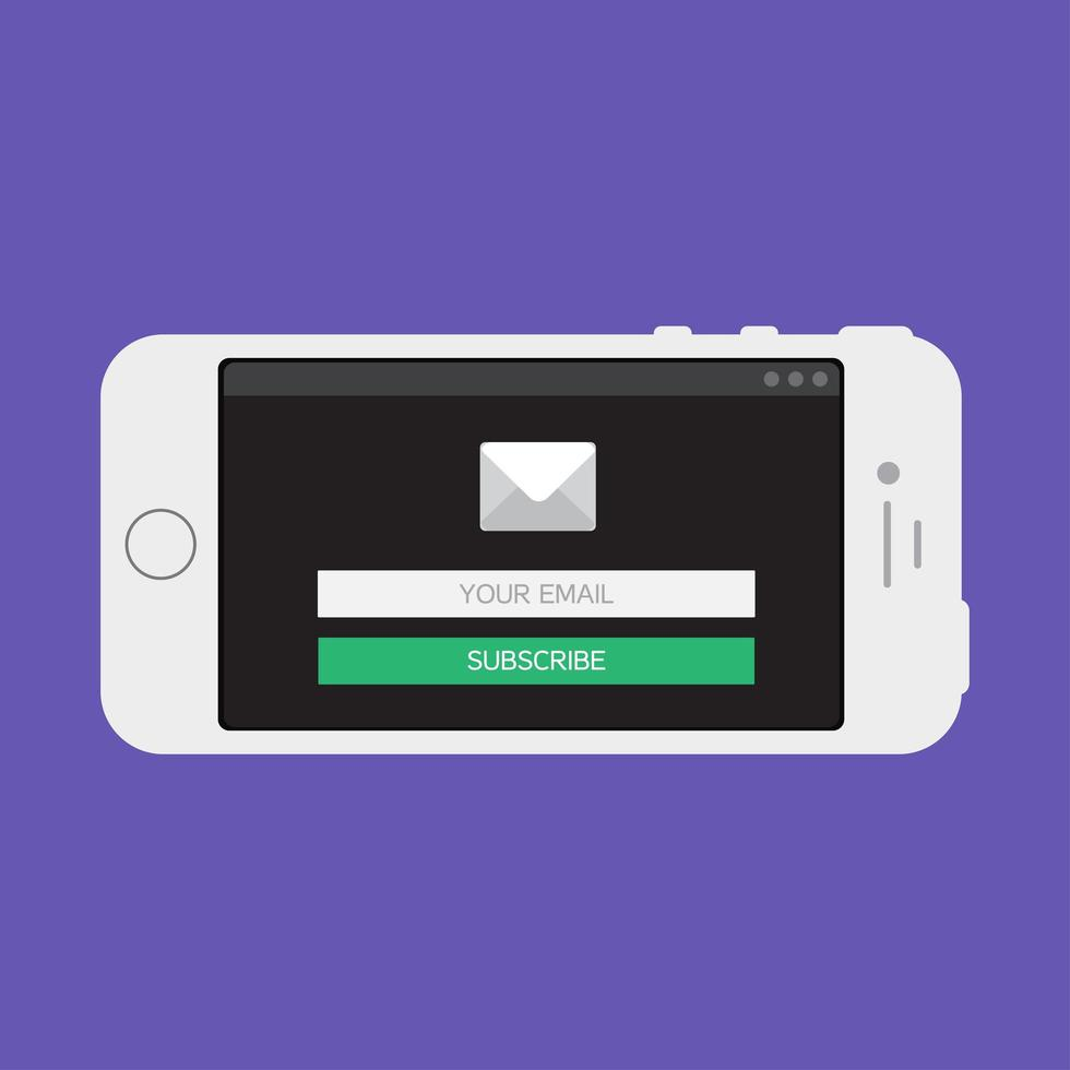 Web Template of Smartphone Email Form vector