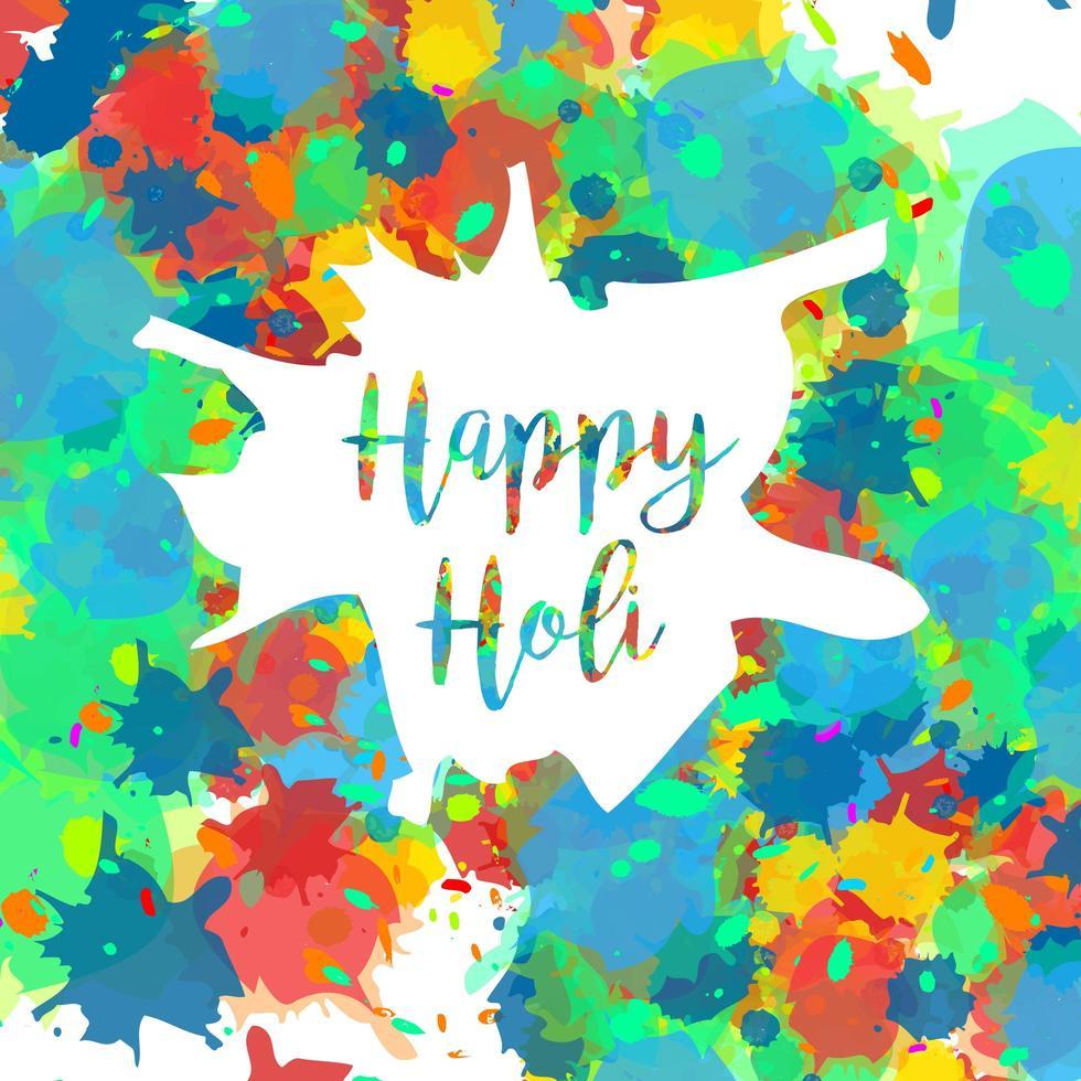feliz festival holi vector