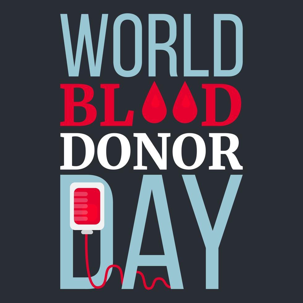 dia mundial del donante de sangre vector