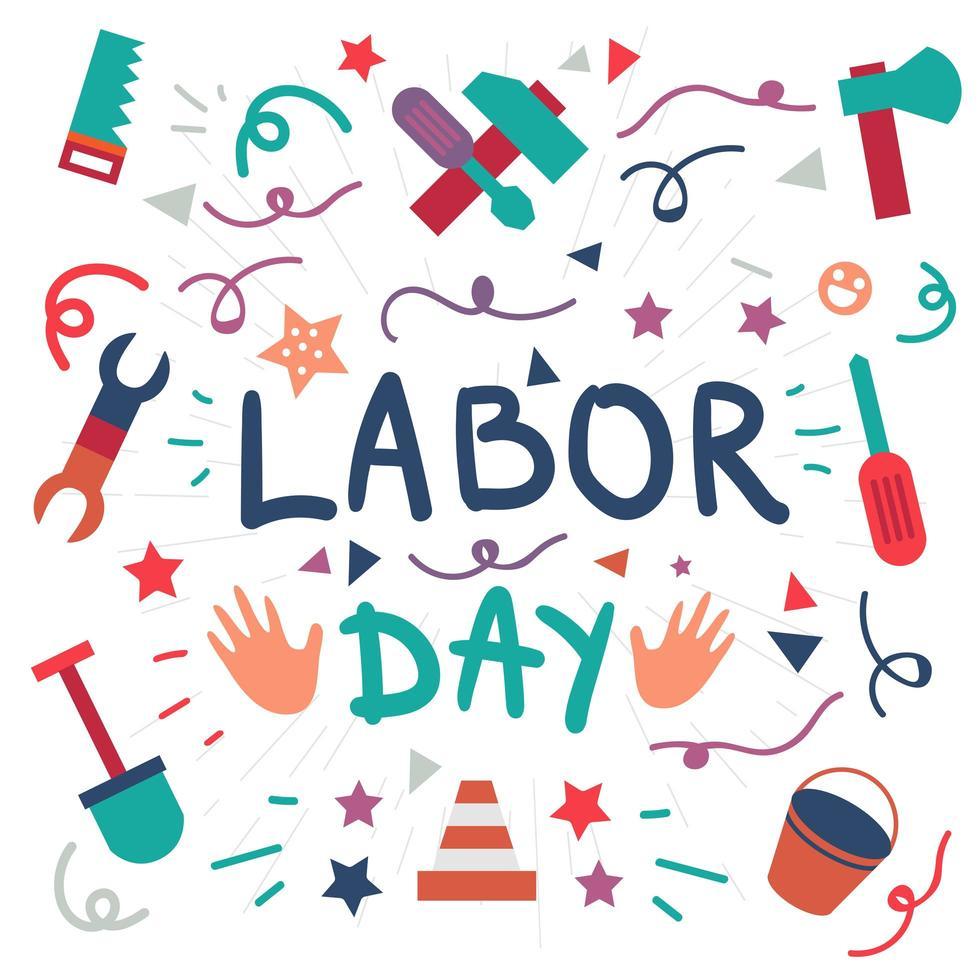 Día laboral. 1 de mayo vector