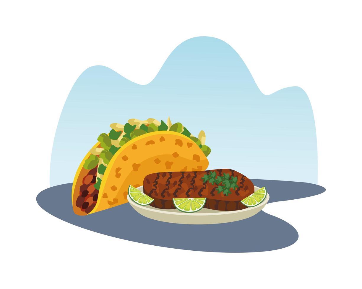 Mexican Taco And Steak Food Download Free Vectors Clipart Graphics Vector Art